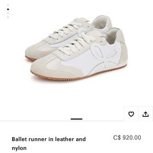 Loewe Ballet runner in leather and nylon size 35